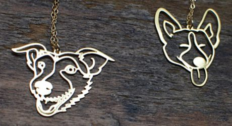 Custom Pet Portrait Jewelry from Brevity