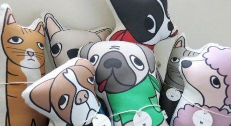 Custom Pet Pillows and Illustrated Portraits by Kara Burke