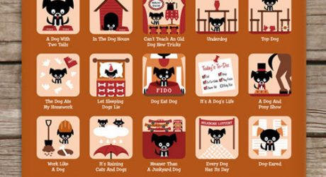 Dog Idioms Poster from Knowsters