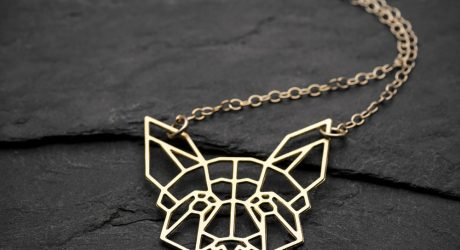 Geometric Dog Necklaces from By Yaeli