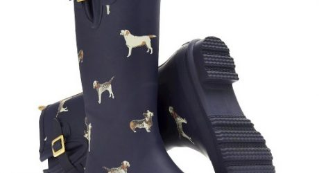 Dog Print Rain Boots by Joules