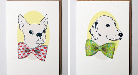 Dogs in Bow Ties Greeting Card Collection from BigJon