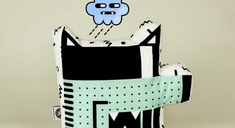 Colorful Illustrated Dog Cushions by Chi He