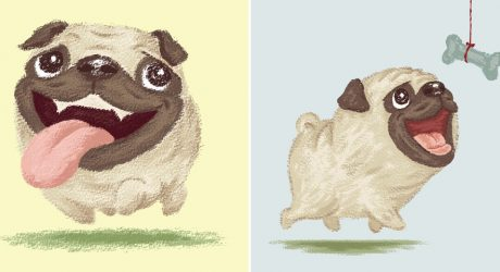 Dog Illustrations by Toru Sanogawa