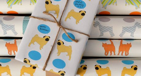 Modern Dog-Themed Wrapping Paper from RiverDog Prints