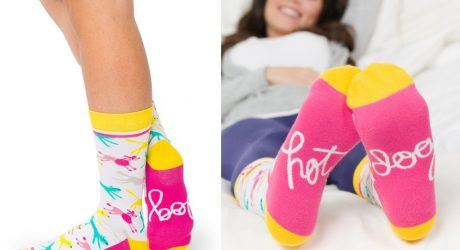 Colorful Patterned Dog Socks from Woven Pear