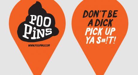 PooPins: Biodegradable Dog Poop Markers
