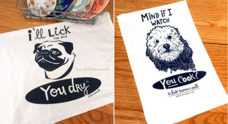 Screen Printed Dog Tea Towels by Kate Brennan Hall