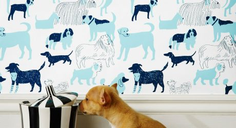 Dog Park Wallpaper by Julia Rothman