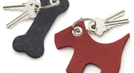 Dog and Bone Felt Keychains from Crate & Barrel
