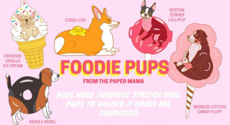 Foodie Pups Enamel Pins from The Paper Mama