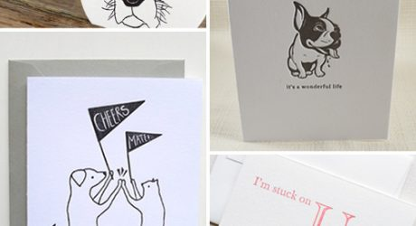 Roundup: Cool Letterpress Dog Stationery and Art Prints