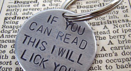 """I Will Lick You"" Dog Tag"