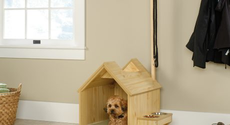 Indoor Dog House and Pet Station from Sauder