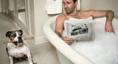 Spotted: A Cute Bulldog in Vanity Fair (Oh, and Jon Hamm, too)