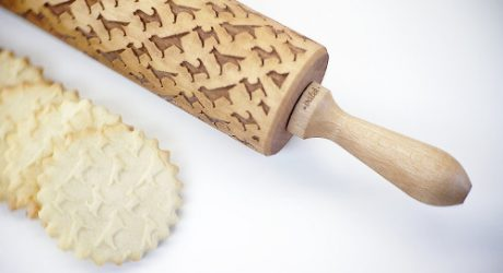Laser-Engraved Dog Pattern Rolling Pin from Valek Rolling Pins