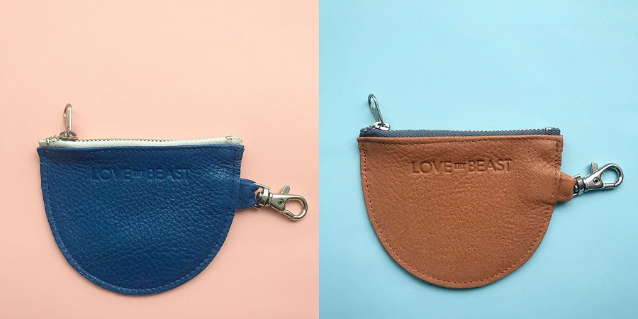 Pebble Leather Waste Bag Pouch from LoveThyBeast