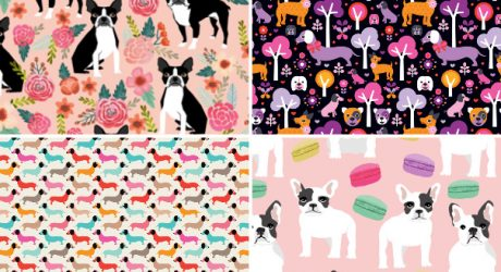 Dog Fabric and Wallpaper Designs at Spoonflower