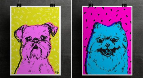 Colorful Dog Breed Prints from Evie Kemp