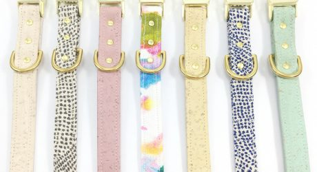 Vegan Cork Leather Collars from Noggins & Binkles