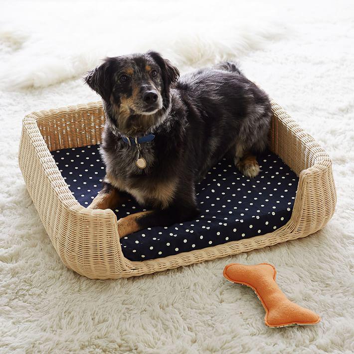 Northfield Canvas Wicker Pet Beds
