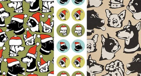 Holiday Dog Wrapping Paper