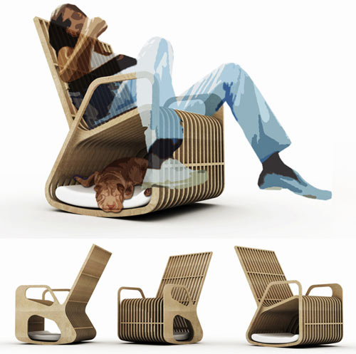 Cool Rocking Chair By Paul Kweton Design Milk Squirreltailoven Fun Painted Chair Ideas Images Squirreltailovenorg