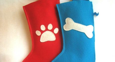 Eco-Felt Dog Christmas Stocking