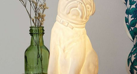 Porcelain Pug Table Lamp