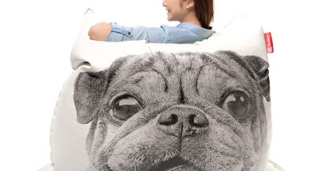 Pug Bean Bag Cover by Freeasy