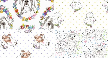 Dog Fabric Designs from Studio Legohead