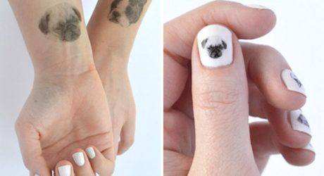 Temporary Dog Tattoos and Nail Art from Hello Harriet