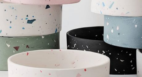 Terrazzo Dog Bowls from Four Legs / Four Walls