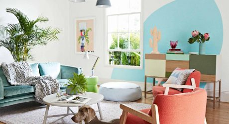Spotted: A Modern, Colorful Home + A Weimaraner