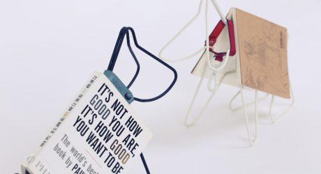 Mori the Wire Dog Book Holder