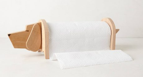 Wooden Dog-Shaped Paper Towel Holder