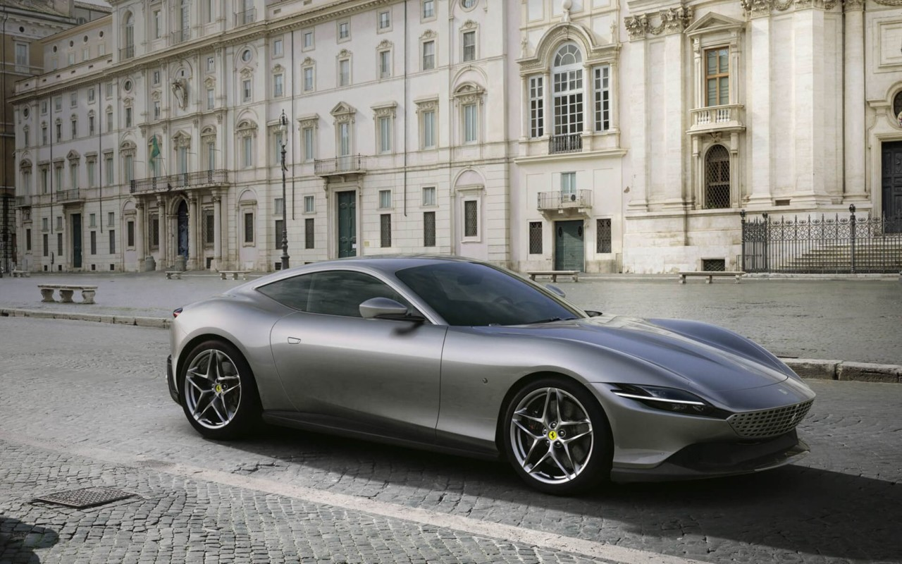 The Ferrari Roma Grand Touring Coupe Sculpts Speed