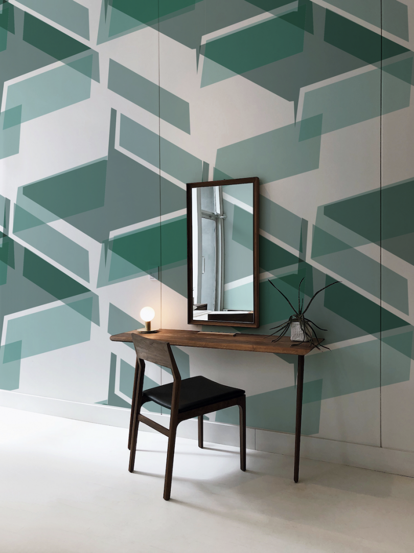 Colorful and Abstract Patterned Wallcoverings by Leigh Bagley x Newmor