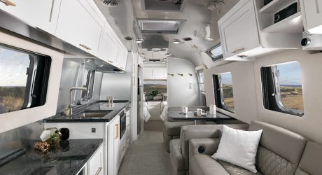 "Airstream's New ""Comfort White"" Travels In Style"