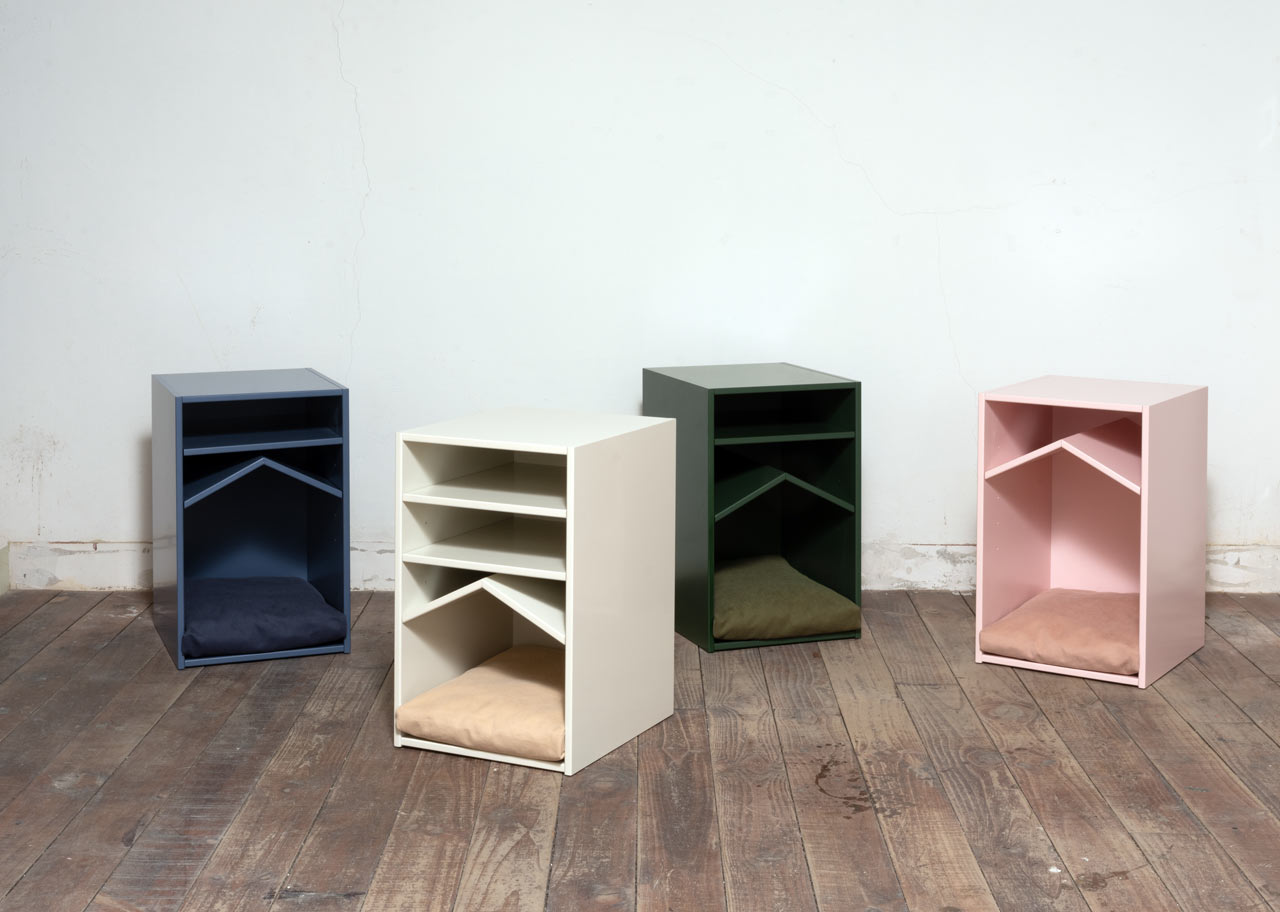 Studio PESI Designs a Shelf That Doubles as a Pet House