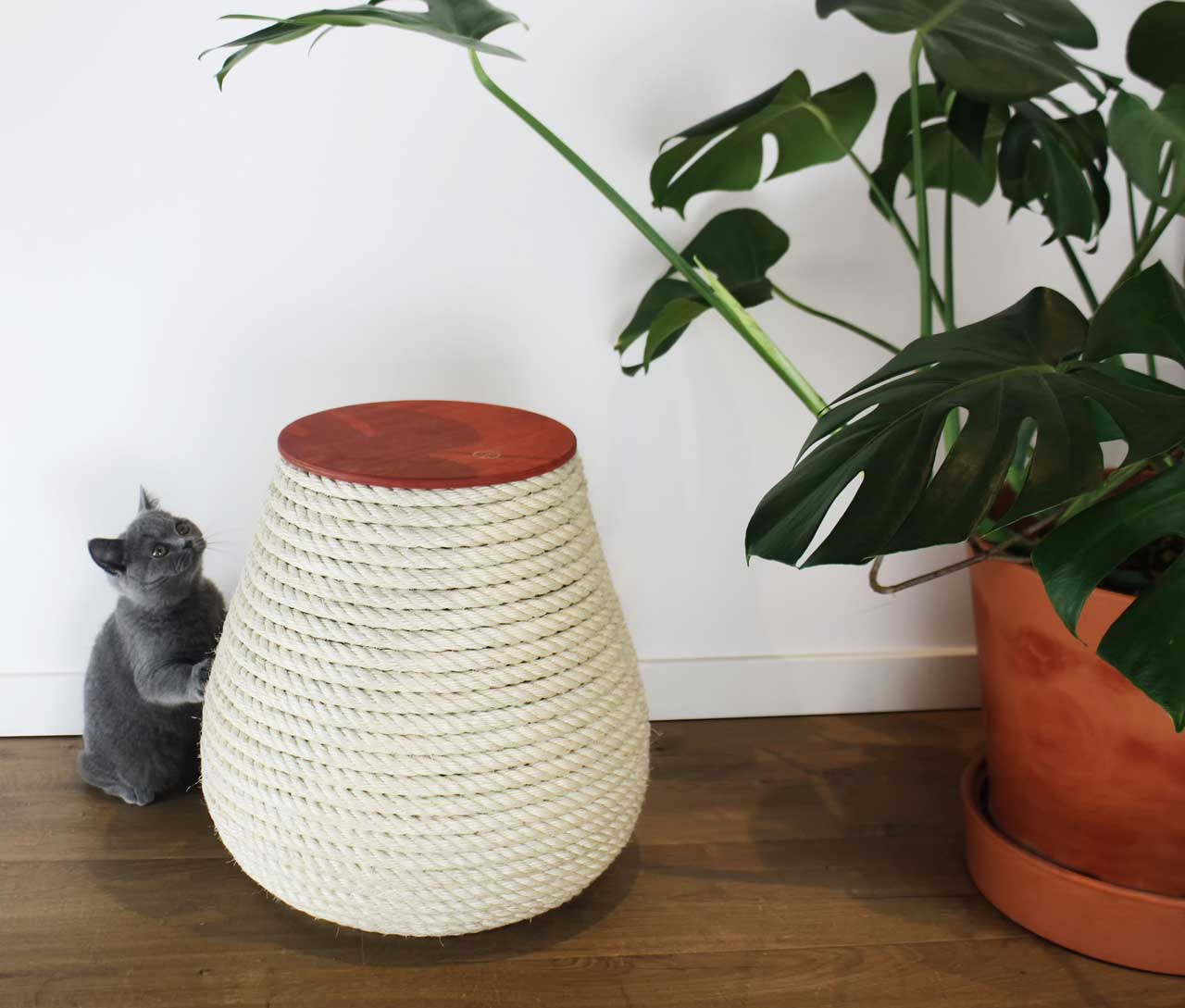 Krab Designed a Stool Your Cats Can Tear Up