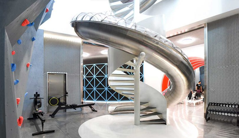 A Two-Story Gym in Beijing That Comes Complete with a Slide