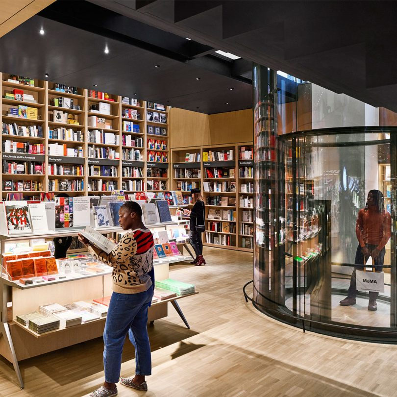New MoMA Flagship Store Boasts a Two-Story Bookshelf with 2,000 Books