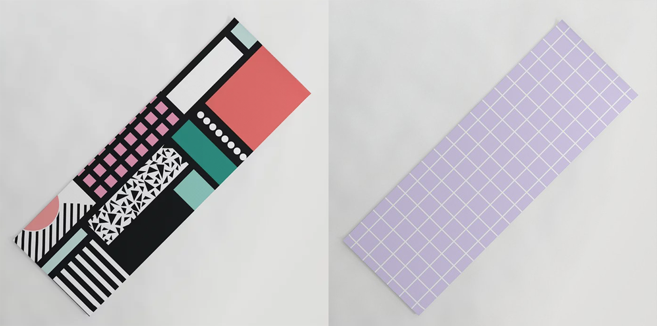 Move More With Modern Yoga Mat Designs From Society6