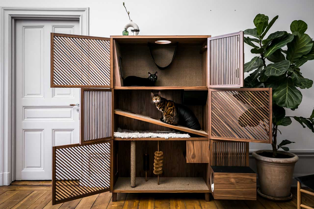 Modern Cat House Gives Cats 10 Fun Things Design Milk