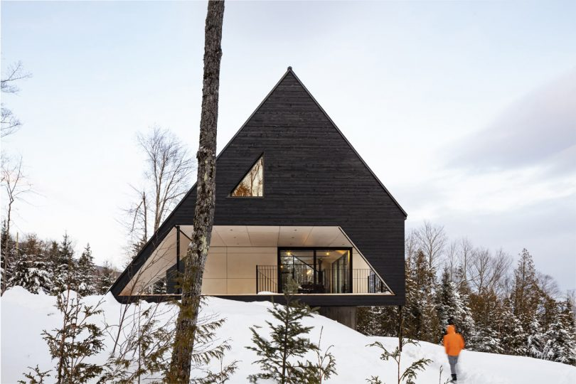 Cabin A: A Dramatic A-Frame Cabin in Québec?s Charlevoix Region