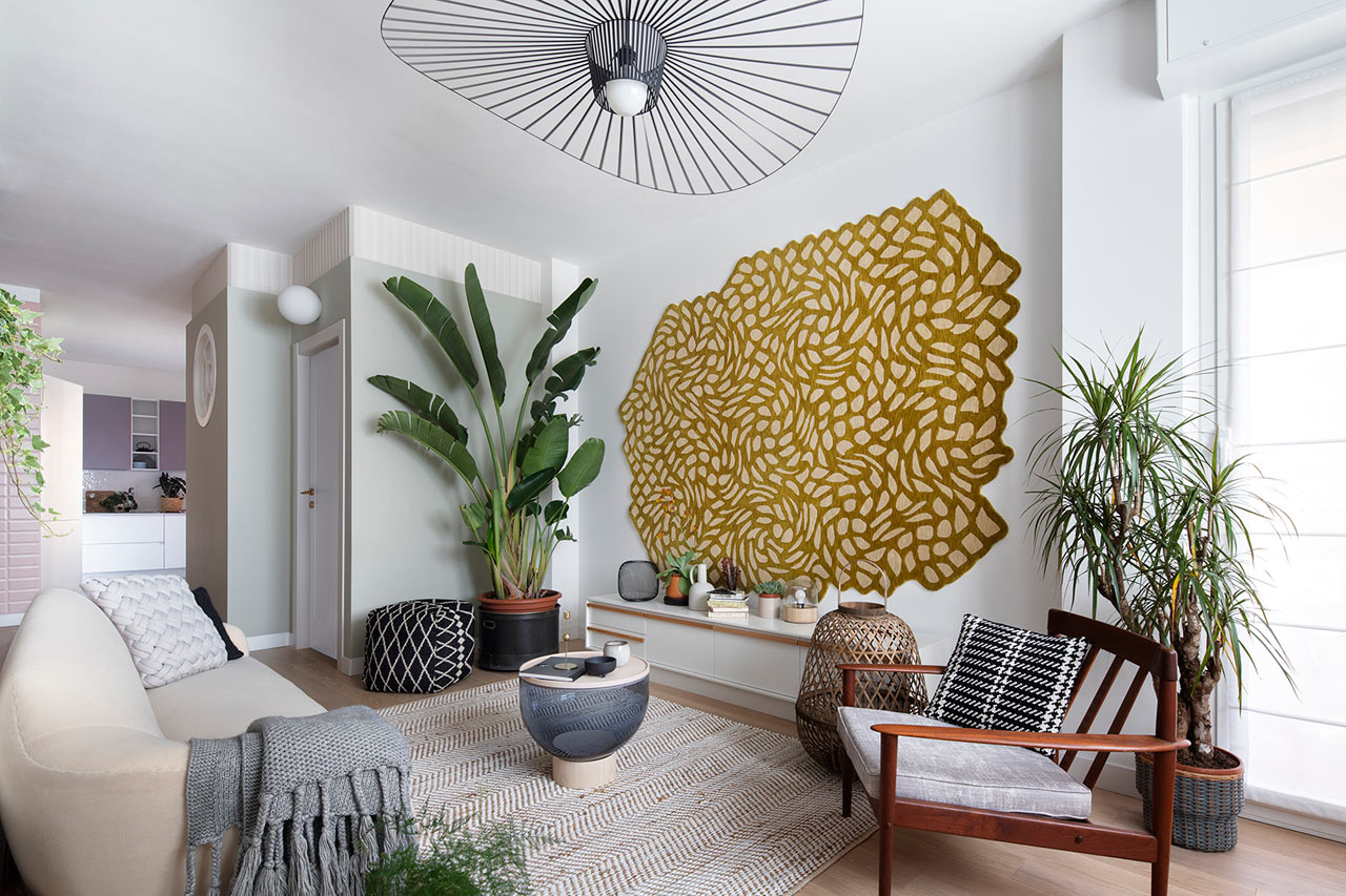 A 96m2 Apartment in Milan Designed to Feel Like an Imaginary Garden