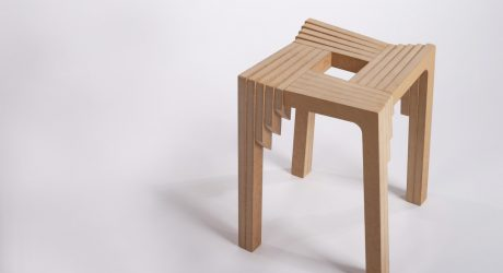 Grada: A Stool Perpetually Interlocking onto Itself