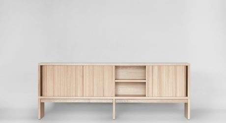 The Minimalist Mjolk Tambour Cabinet by Thom Fougere