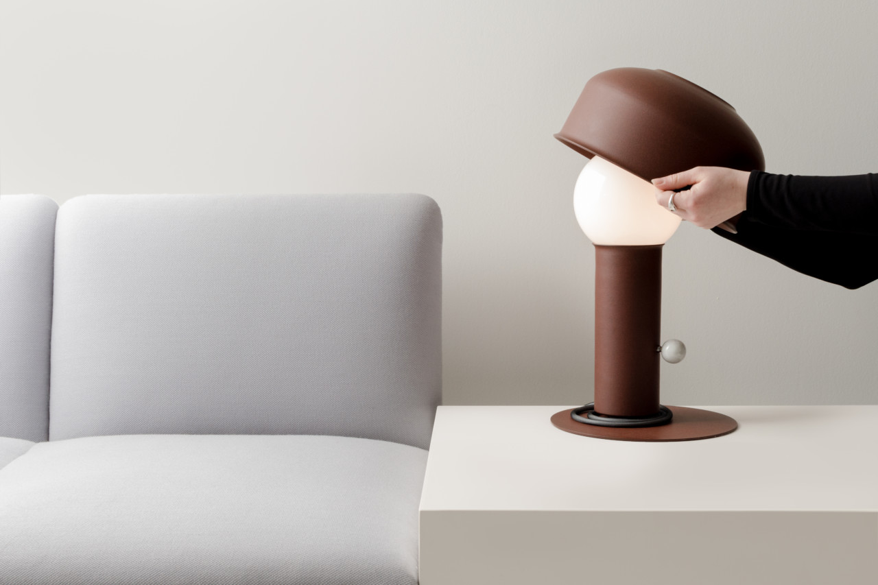 Adjust the Pivot Table Lamp as You Would a Hat on Your Head - Design Milk